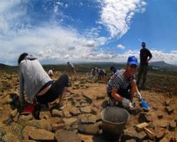 Экспедиция волонтеров и археологов на место строительства ж/д линии «Кызыл-Курагино»